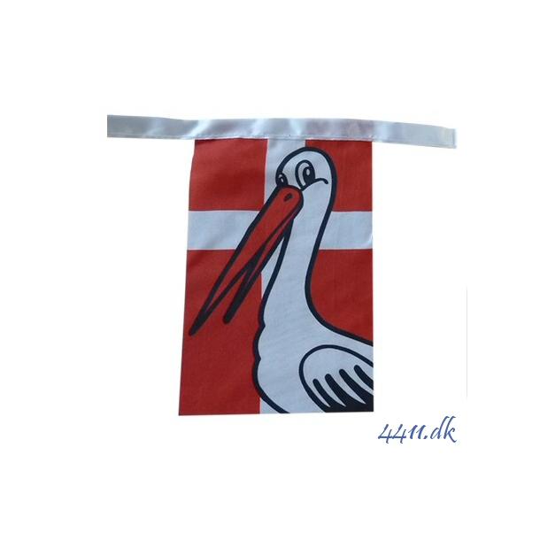 Flagranke med stork
