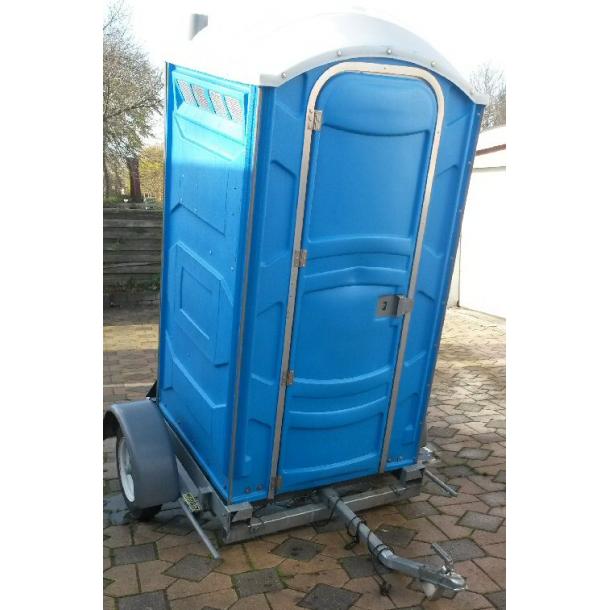 Mobil toilet med håndvask på trailer afhent selv