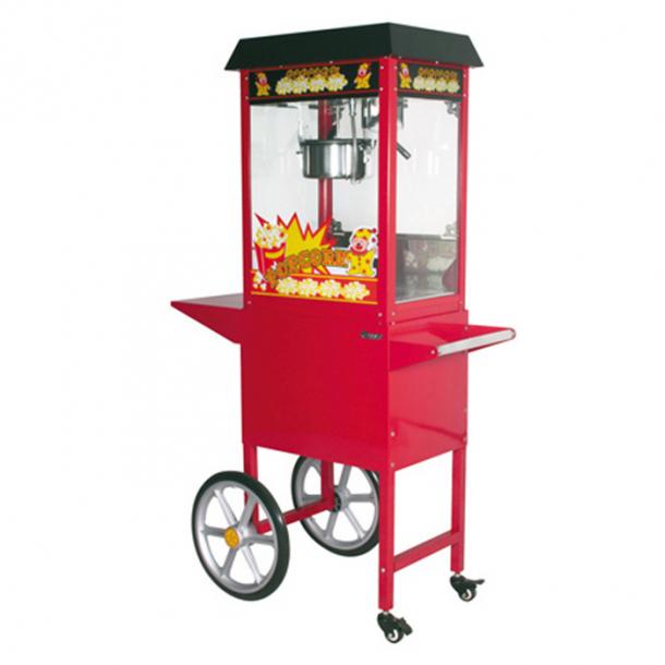 Popcornmaskine med vogn