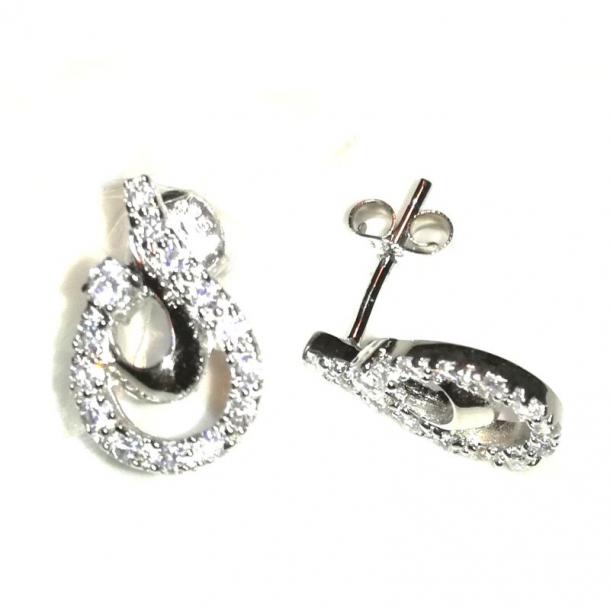 Øreringe sølv sirconia