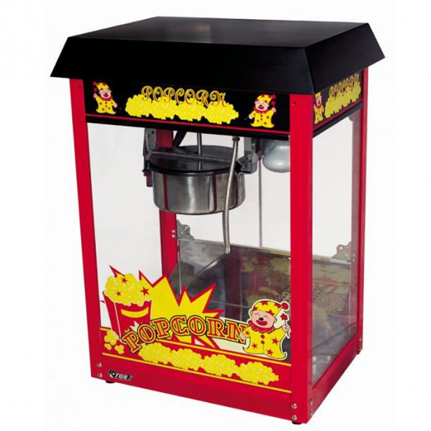 Popcornmaskine med varmelampe